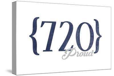 Boulder, Colorado - 720 Area Code (Blue)