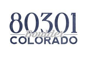Boulder, Colorado - 80301 Zip Code (Blue) by Lantern Press