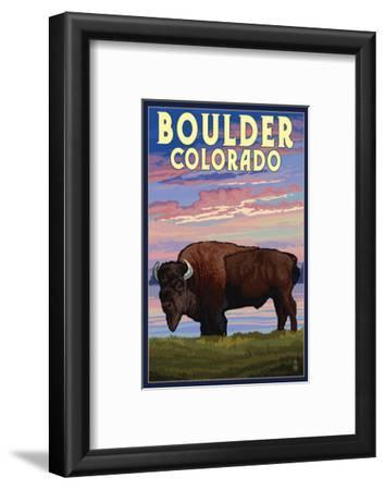 Boulder, Colorado - Bison and Sunset
