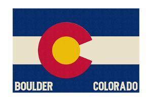 Boulder, Colorado - Colorado State Flag by Lantern Press