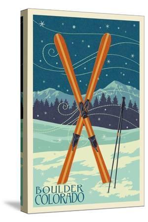 Boulder, Colorado - Crossed Skis