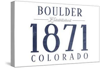 Boulder, Colorado - Established Date (Blue)