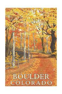 Boulder, Colorado - Fall Colors Scene by Lantern Press