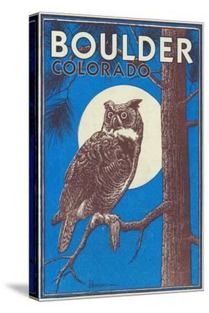 Boulder, Colorado - Horned Owl in the Moonlight - Vinatge Magazine Cover