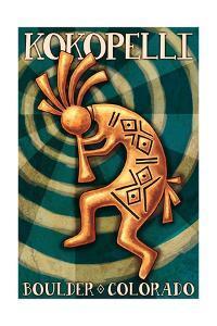 Boulder, Colorado - Kokopelli by Lantern Press
