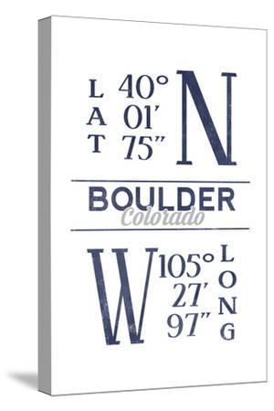 Boulder, Colorado - Latitude and Longitude (Blue)