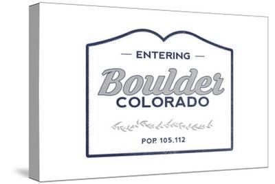 Boulder, Colorado - Now Entering (Blue)