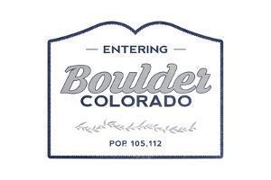 Boulder, Colorado - Now Entering (Blue) by Lantern Press