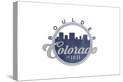 Boulder, Colorado - Skyline Seal (Blue)