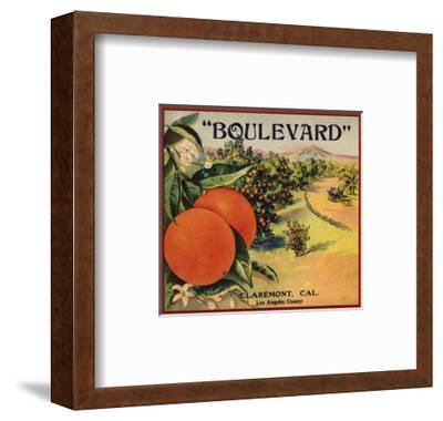 Boulevard Brand - Claremont, California - Citrus Crate Label
