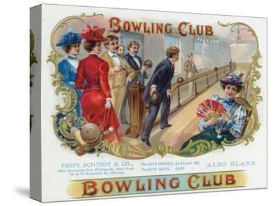 Bowling Club Brand Cigar Box Label, Bowling