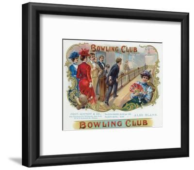 Bowling Club Brand Cigar Box Label, Bowling