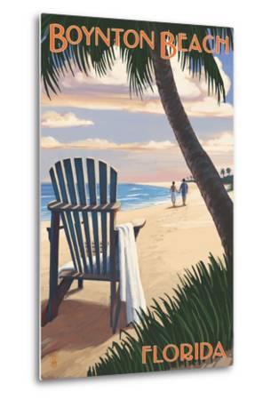 Boynton Beach, Florida - Adirondack Chair on the Beach