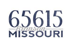 Branson, Missouri - 65615 Zip Code (Blue) by Lantern Press