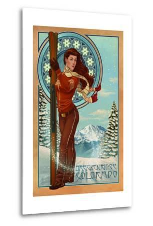 Breckenridge, Colorado - Art Nouveau Skier