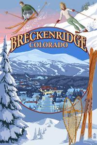 Breckenridge, Colorado Montage by Lantern Press