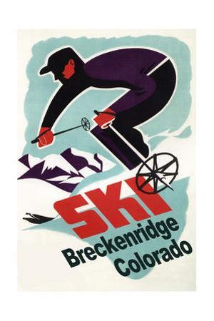 Breckenridge, Colorado - Retro Skier