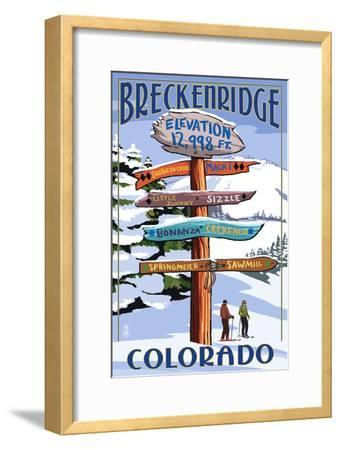 Breckenridge, Colorado - Ski Run Signpost