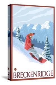Breckenridge, Colorado, Snowboarder Scene by Lantern Press