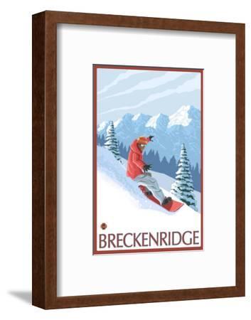 Breckenridge, Colorado, Snowboarder Scene