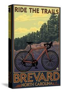 Brevard, North Carolina - Ride the Trails Bicycle by Lantern Press
