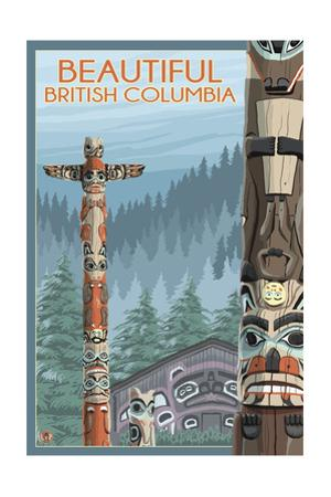 British Columbia, Canada - Totem Pole by Lantern Press