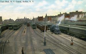 Buffalo, New York - New York Central Train Sheds by Lantern Press