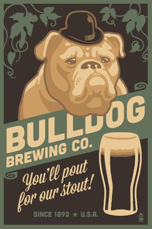 Bulldog - Retro Stout Beer Ad by Lantern Press