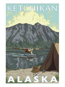 Bush Plane & Fishing, Ketchikan, Alaska by Lantern Press