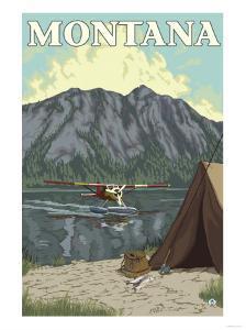 Bush Plane & Fishing, Montana by Lantern Press