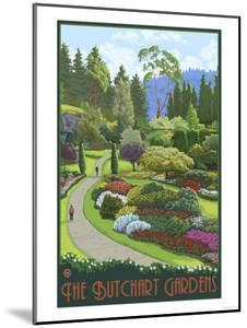 Butchart Gardens - Brentwood Bay, British Columbia, Canada by Lantern Press