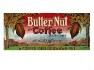 Butter Nut Coffee Label - Omaha, NE by Lantern Press
