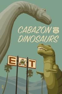 Cabazon, California - Route 66 - Cabazon Dinosaurs by Lantern Press