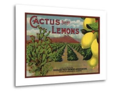 Cactus Brand - Highland, California - Citrus Crate Label