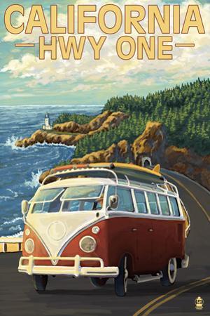 California Highway One Coast VW Van