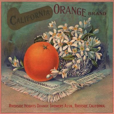 Highgrove Riverside Orange Prince Orange Citrus Fruit Crate Label Vintage Print