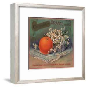 California Orange Brand - Riverside, California - Citrus Crate Label by Lantern Press