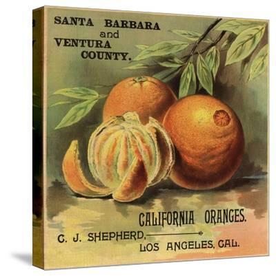 California Oranges Brand - Los Angeles, California - Citrus Crate Label