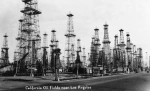 California - View of Oil Fields near Los Angeles by Lantern Press