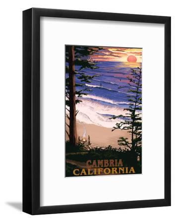 Cambria, California - Sunset & Surfers