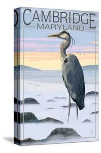 Cambridge, Maryland - Blue Heron and Fog by Lantern Press