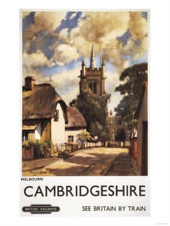 Cambridgeshire, England - Scenic Country View British Railways Poster by Lantern Press