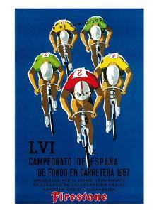 Cameonato de Espana de Fondo en Carretera, 1957 by Lantern Press