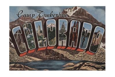 Camp Timberline, Colorado - Large Letter Scenes