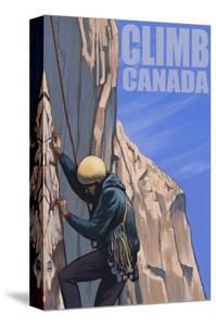 Canada, Rock Climber by Lantern Press