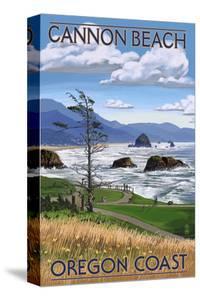 Cannon Beach, or - Oregon Coast View by Lantern Press