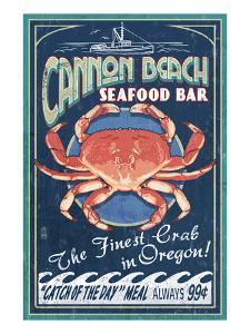 Cannon Beach, Oregon - Dungeness Crab by Lantern Press