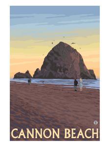 Cannon Beach, Oregon, Haystack Rock View by Lantern Press