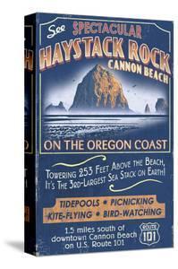 Cannon Beach, Oregon - Haystack Rock by Lantern Press