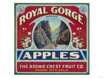 Canon City, Colorado - Royal Gorge Apple Label by Lantern Press